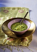 Ayurvedish courgette and herb soup