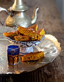 Ayurvedic pumpkin cake with walnuts