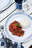 Vegetarian chilli with rice