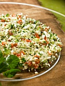 Tabbouleh (couscous with herbs, spices and tomatoes)