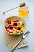 Fruit salad with honey