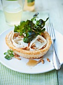 A goat's cheese tartlet