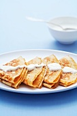 Blinis with sour cream