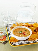 Pepper dip with nachos (Mexico)