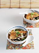 Miso soup with pasta and fish (Asia)