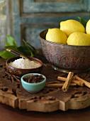 Ingredients for salt-pickled lemons