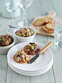 Tuna and aubergine dip