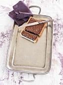 Chocolate and orange pine nut tart