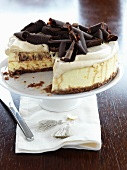 Cheesecake with coffee and chocolate