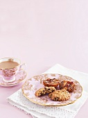 Cranberry biscuits and florentines