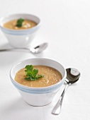 Sweet potato and chilli soup with bacon