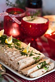 Salmon terrine for Christmas dinner