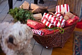 Basket of Christmas presents