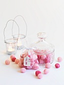 Rosafarbene Sugar Balls zum Verschenken