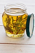 Olive oil with rosemary and thyme