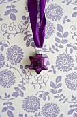 Purple, glass, star-shaped bauble