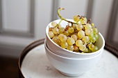 Organic Green Grapes in a Bowl