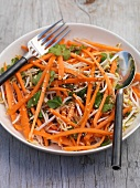 Carrot salad with bean sprouts
