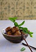 Lamb meatballs with mint (India)