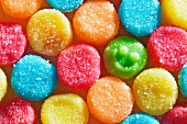 Colorful Candy Gumdrops; One with a Smiley Face