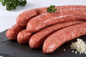Raw pork sausages