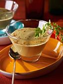 Cream of mussel soup