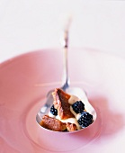 Spoonful of Blackberry Polenta Bread Pudding