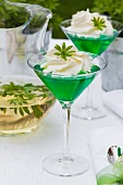Woodruff jelly with cream