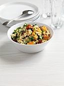 Orzo salad with vegetables