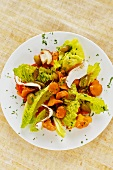 Mushroom salad with pumpkin