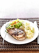 Grilled chicken breast with potato salad (for diabetic)
