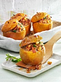 Apples filled with minced meat