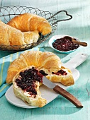 Damson compote with a croissant