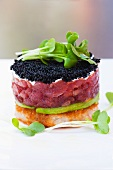 Caviar, Tuna and Avocado Tartare