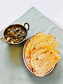 Papadum and Saag