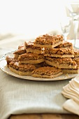 Cookie Bars Stacked on a Plate