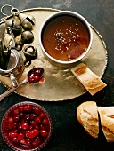 Duck liver pate with cranberry compote (Christmas)