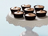 Chocolate mousse in praline cases