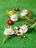 Egg hedgehogs and almond slivers