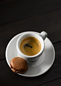 An espresso and a macaroon
