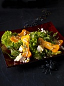 Bone salad made of pumpkin for Halloween