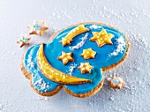 A cloud-shaped biscuit with stars