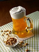 Sweet beer: apricot jelly topped with vanilla foam