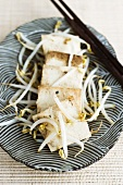 Tofu with bean sprouts (Asia)