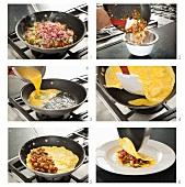 Steps for Making a Denver Omelet