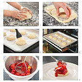 Erdbeer-Shortcakes backen