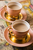 Two cups of masala chai tea