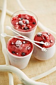 Frozen yogurt with berries
