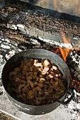 Thit Ko To (caramelised pork, Vietnam) in a pot
