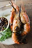 Grilled prawns with a tamarind sauce (Thailand)